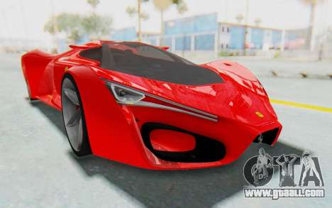 Ferrari F80 Concept 2015 Beta for GTA San Andreas