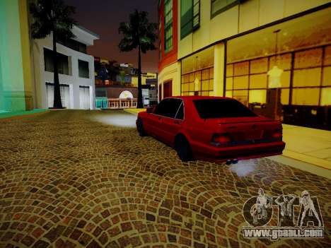 Mercedes Benz W140 Brabus for GTA San Andreas back left view