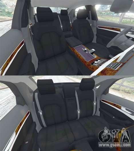 GTA 5 Audi A8 FSI 2010 steering wheel