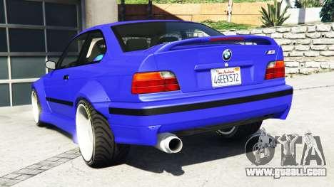 GTA 5 BMW M3 (E36) Street Custom [blue dials] v1.1 rear left side view