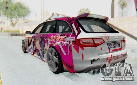 Audi S4 Avant Yurippe Angel Beats Itasha for GTA San Andreas left view