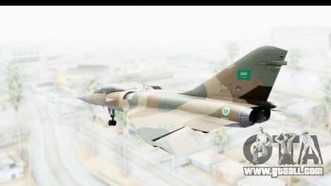 Dassault Mirage 4000 Royal Saudi Air Force for GTA San Andreas left view