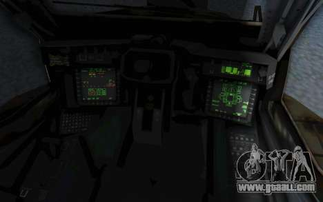 AH-64 Apache Leopard for GTA San Andreas inner view