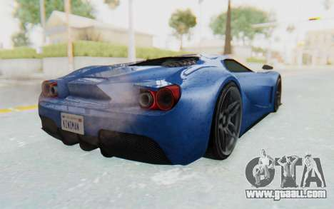 GTA 5 Vapid FMJ for GTA San Andreas back left view