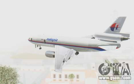 DC-10-30 Malaysia Airlines (Old Livery) for GTA San Andreas right view