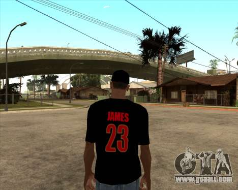 King James T-Shirt for GTA San Andreas second screenshot
