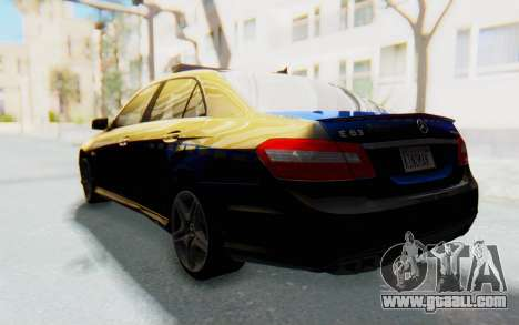 Mercedes-Benz E63 German Police Blue for GTA San Andreas left view