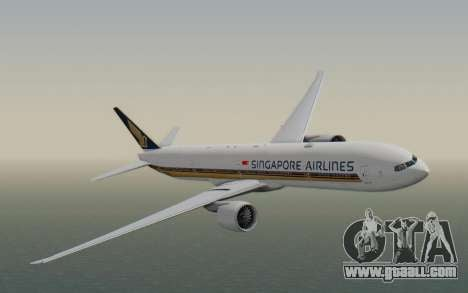 Boeing 777-300ER Singapore Airlines v1 for GTA San Andreas back left view