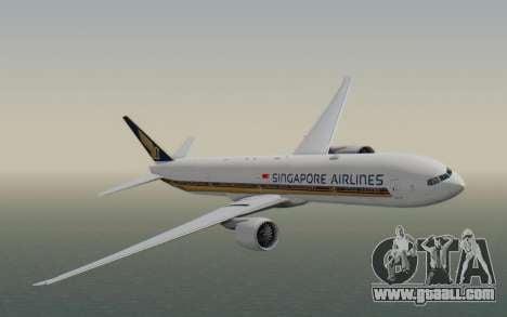 Boeing 777-300ER Singapore Airlines v1 for GTA San Andreas back left view