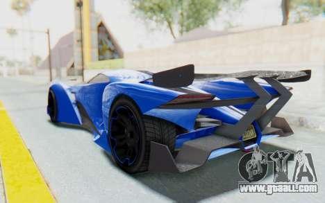 GTA 5 Grotti Prototipo v1 for GTA San Andreas left view