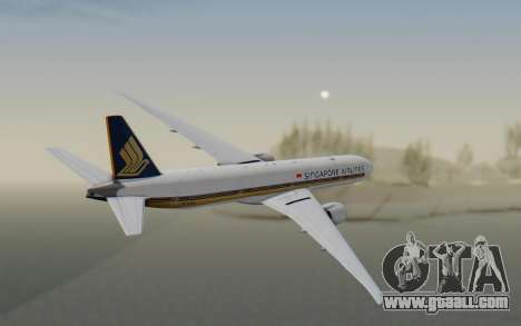 Boeing 777-300ER Singapore Airlines v1 for GTA San Andreas right view