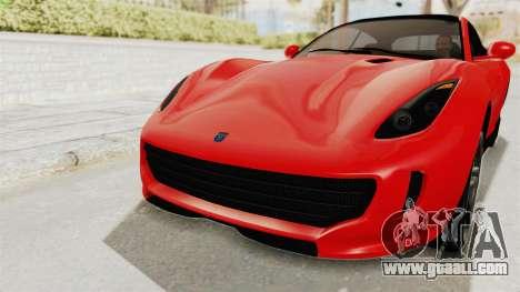 GTA 5 Grotti Bestia GTS v2 IVF for GTA San Andreas upper view