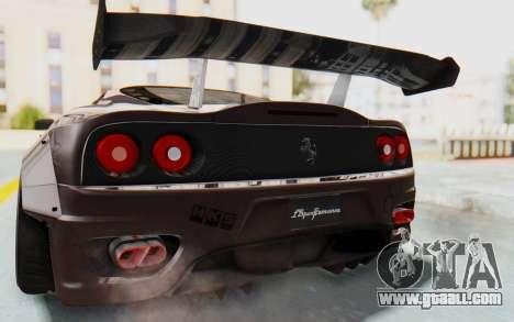 Ferrari 360 Modena Liberty Walk LB Perfomance v1 for GTA San Andreas upper view