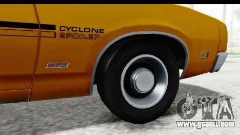 Mercury Cyclone Spoiler 1970 IVF for GTA San Andreas back view
