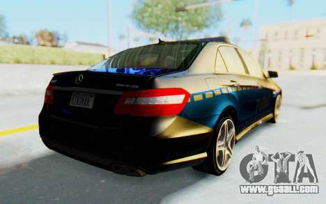 Mercedes-Benz E63 German Police Blue for GTA San Andreas back left view