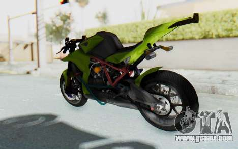KTM 1190 R Stunter for GTA San Andreas back left view