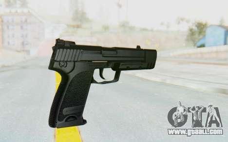 HK USP 45 Black for GTA San Andreas third screenshot