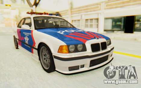 BMW M3 E36 Police Indonesia for GTA San Andreas back left view