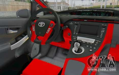 Toyota Prius Hybrid 2011 Hellaflush IF Itasha for GTA San Andreas inner view