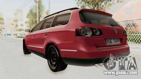 Volkswagen Passat B6 Variant for GTA San Andreas left view
