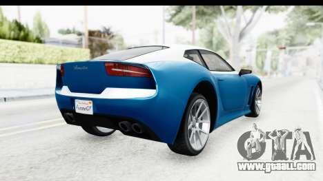 GTA 5 Lampadati Furore GT SA Lights for GTA San Andreas back left view