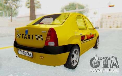 Dacia Logan Taxi for GTA San Andreas left view