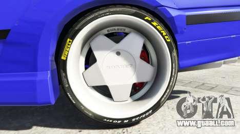 GTA 5 BMW M3 (E36) Street Custom [blue dials] v1.1 rear right side view