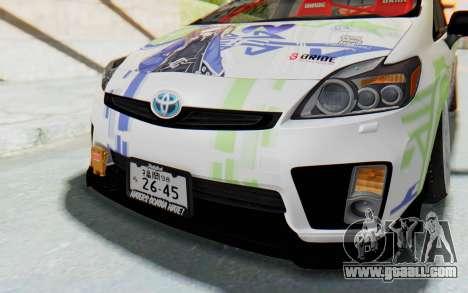 Toyota Prius Hybrid 2011 Hellaflush IF Itasha for GTA San Andreas side view