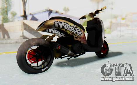 Honda Scoopyi Modified for GTA San Andreas right view