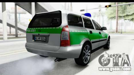 Opel Astra G Variant Polizei Bayern for GTA San Andreas right view