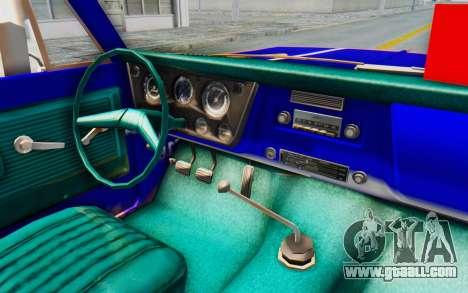 Chevrolet C10 1970 for GTA San Andreas inner view
