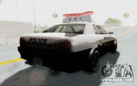 Elegy Japanese Police for GTA San Andreas right view
