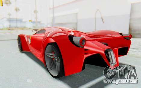 Ferrari F80 Concept 2015 Beta for GTA San Andreas left view