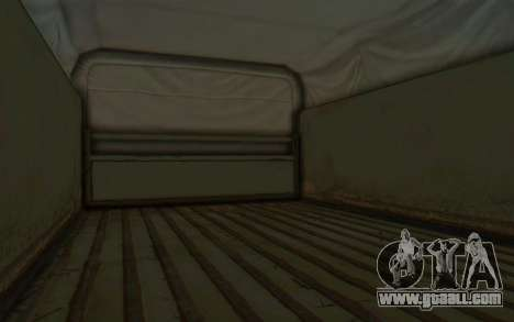 MGSV Phantom Pain BOAR 53CT Truck Roof for GTA San Andreas back view