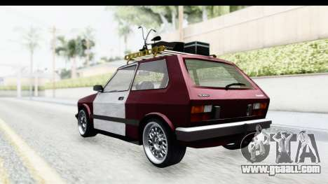 Zastava Yugo Koral Rat Style for GTA San Andreas back left view