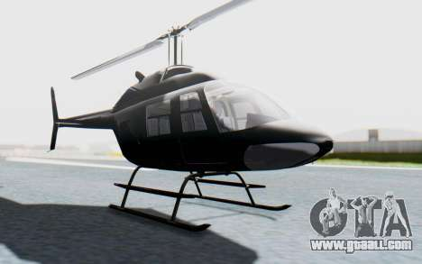 Bell 206B-III Jet Ranger Policja for GTA San Andreas right view