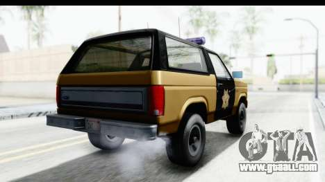 Ford Bronco 1982 Police IVF for GTA San Andreas back left view