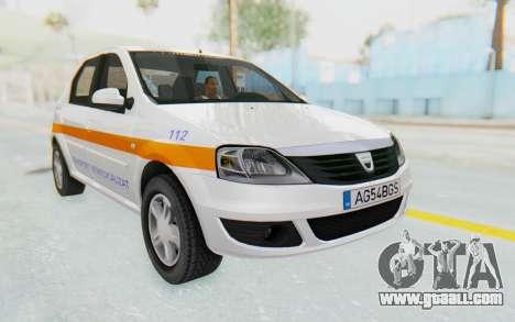 Dacia Logan Facelift Ambulanta for GTA San Andreas