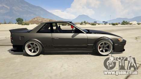 GTA 5 Nissan Silvia S13 6666 Rocket Bunny 1.7 left side view