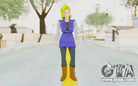 Dragon Ball Xenoverse Android 18 Jacket for GTA San Andreas second screenshot