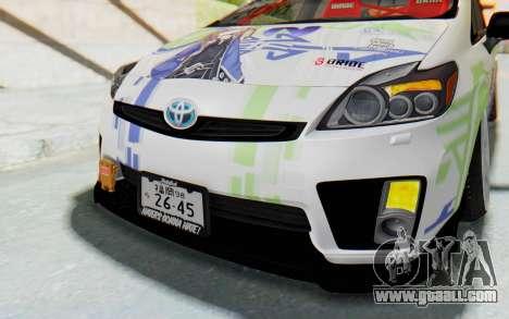 Toyota Prius Hybrid 2011 Hellaflush IF Itasha for GTA San Andreas upper view