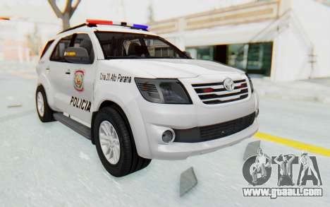 Toyota Fortuner 4WD 2015 Paraguay Police for GTA San Andreas right view