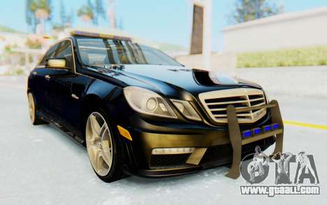 Mercedes-Benz E63 German Police Blue for GTA San Andreas right view