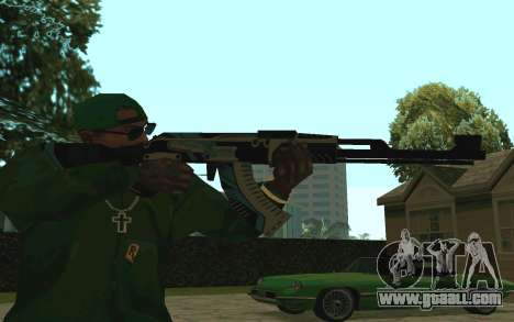 AK-47 Vulcan (SA) for GTA San Andreas second screenshot
