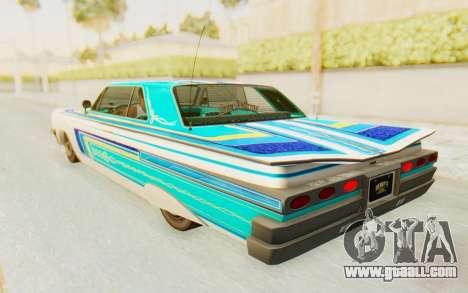 GTA 5 Declasse Voodoo Alternative v1 for GTA San Andreas inner view