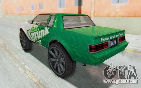 GTA 5 Willard Faction Custom Donk v1 IVF for GTA San Andreas