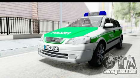 Opel Astra G Variant Polizei Bayern for GTA San Andreas back left view