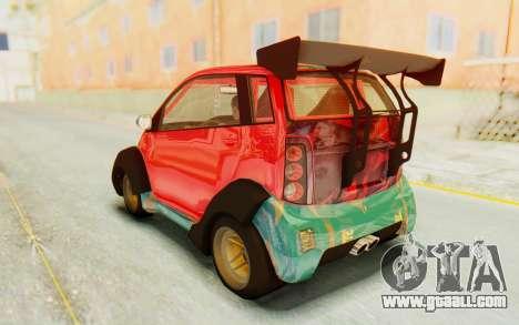 GTA 5 Benefactor Panto Custom for GTA San Andreas side view