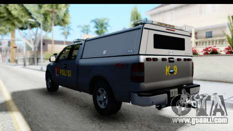 Ford F-150 Indonesian Police K-9 Unit for GTA San Andreas right view