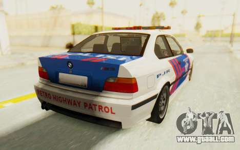 BMW M3 E36 Police Indonesia for GTA San Andreas left view